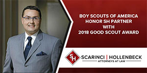 Boy Scouts Honor SH Partner with 2018 Good Scout Award