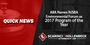 ABA Names NJSBA Environmental Forum as 2017 Program of the Year