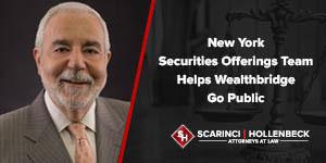 New York Securities Offerings Team Helps Wealthbridge Go Public