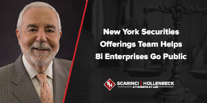 NY Securities Offerings Team Helps 8i Enterprises Go Public