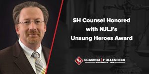 SH Counsel Honored with NJLJ's Unsung Heroes Award