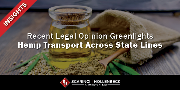 U.S. Department of Agriculture Legal Opinion Greenlights Hemp Transport Across State Lines