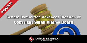 Senate Committee Advances Creation of Copyright Small Claims Board