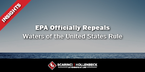 EPA Officially Repeals Waters of the United States Rule