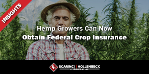 Hemp Growers Can Now Obtain Federal Crop Insurance
