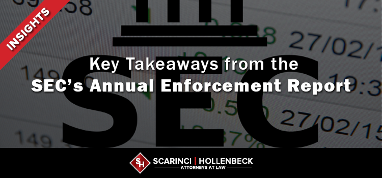 Key Takeaways from the SEC's Annual Enforcement Report