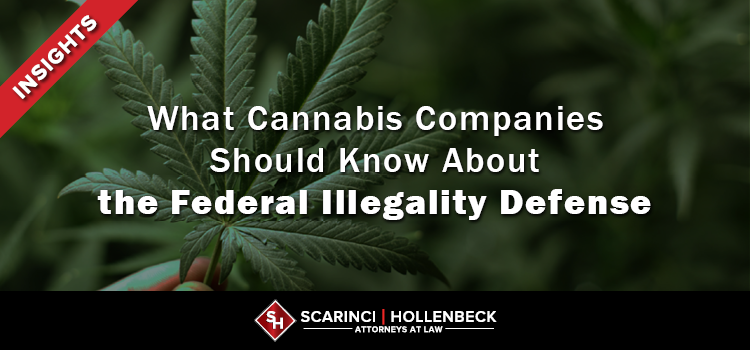 What Cannabis Companies Should Know About the Federal Illegality Defense