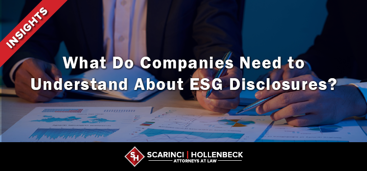 What Do Companies Need to Understand About ESG Disclosures?