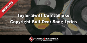 Taylor Swift Can't Shake Copyright Suit Over Song Lyrics