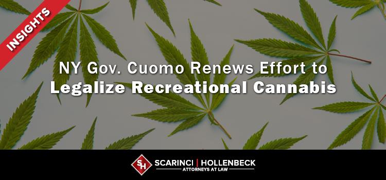 NY Gov. Cuomo Renews Effort to Legalize Recreational Cannabis
