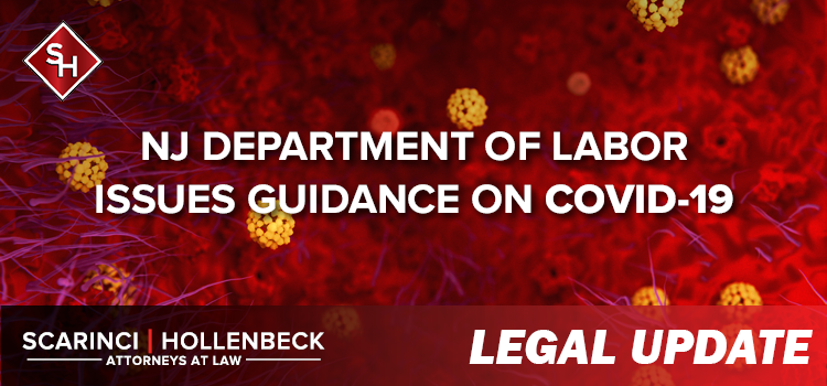 NJ Department of Labor Issues Guidance on COVID-19