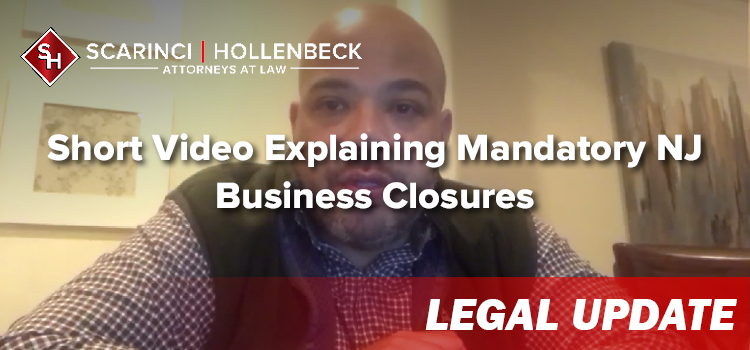 Short Video Explaining Mandatory NJ Business Closures