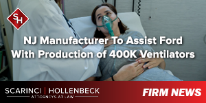 NJ Manufacturer To Assist Ford With Production of 400K Ventilators