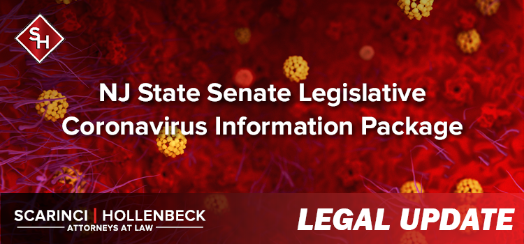 NJ State Senate Legislative Coronavirus Information Package