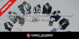Rethinking Annual Shareholders' Meetings in Light of COVID-19