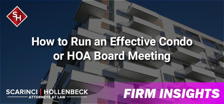 How to Run an Effective Condo or HOA Board Meeting