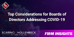 Top Considerations for Boards of Directors Addressing COVID-19
