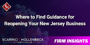 Where to Find Guidance for Reopening Your New Jersey Business