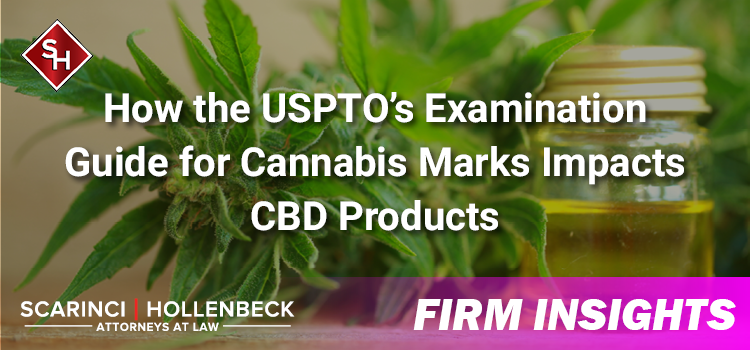 Understanding How the USPTO's Examination Guide for Cannabis Marks Impacts CBD Products