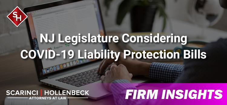 NJ Legislature Considering COVID-19 Liability Protection Bills