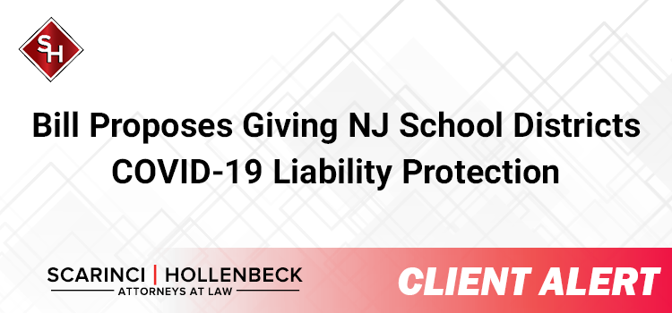 Bill Proposes Giving NJ School Districts COVID-19 Liability Protection