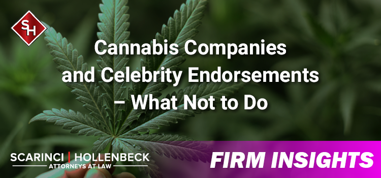 Cannabis Companies and Celebrity Endorsements – What Not to Do