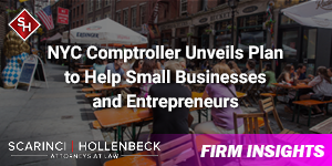 NYC Comptroller Unveils Plan to Help Small Businesses and Entrepreneurs