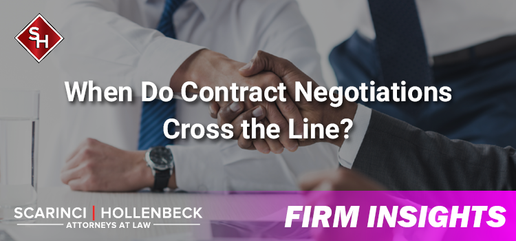 When Do Contract Negotiations Cross the Line?