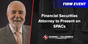 Financial Securities Attorney to Present on SPACs