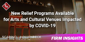 New Relief Programs Available for Arts and Cultural Venues Impacted by COVID-19