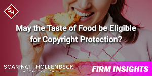 May the Taste of Food be Eligible for Copyright Protection?