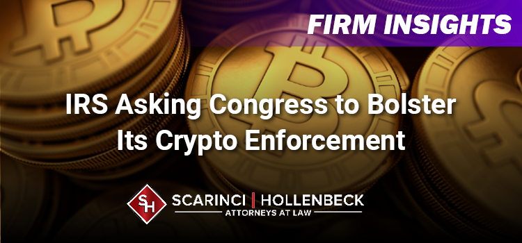 IRS Asking Congress to Bolster Its Crypto Enforcement Authority