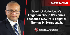 Scarinci Hollenbeck's Litigation Group Welcomes Seasoned New York Litigator Thomas H. Herndon, Jr.