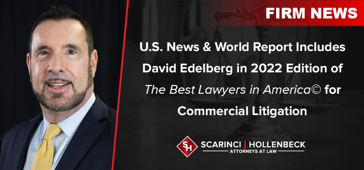 Scarinci Hollenbeck Partner Included in 2022 Edition of The Best Lawyers in America© for Commercial Litigation
