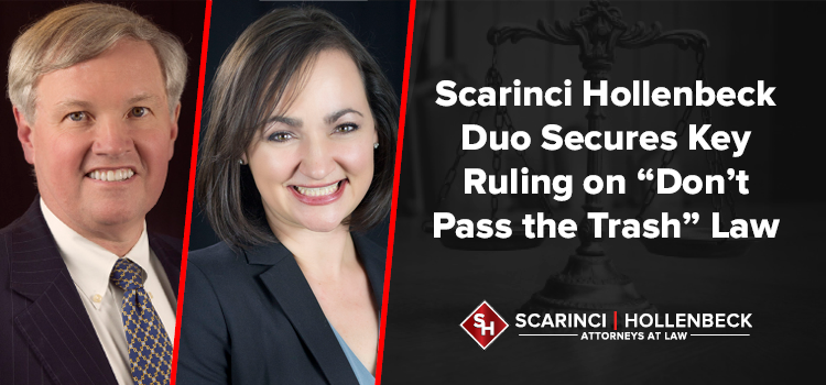 """Scarinci Hollenbeck Duo Secures Key Ruling on """"Don't Pass the Trash"""" Law"""